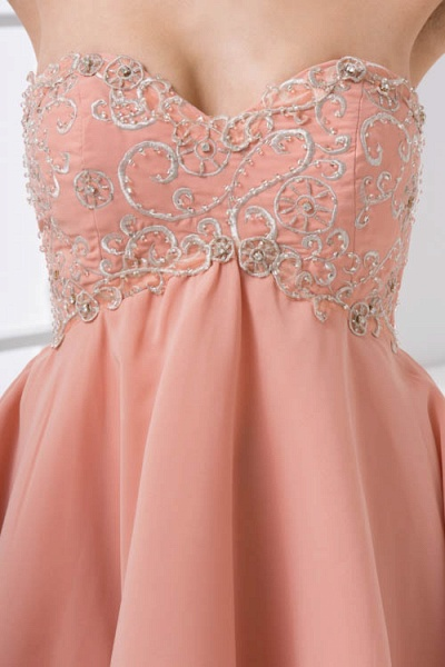 Awesome Strapless Chiffon A-line Bridesmaid Dress_5