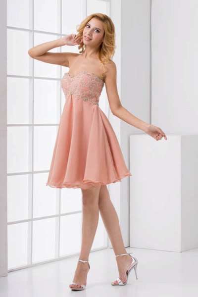 Awesome Strapless Chiffon A-line Bridesmaid Dress_7