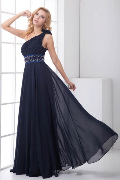 Fascinating One Shoulder Chiffon A-line Bridesmaid Dress_1