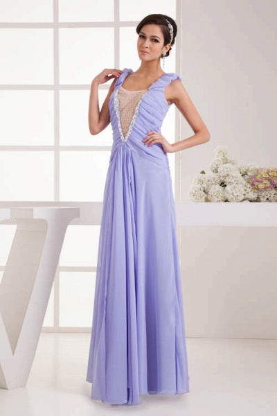 Fascinating Jewel Chiffon A-line Bridesmaid Dress_8