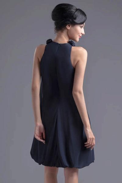 Affordable Jewel Chiffon A-line Bridesmaid Dress_3