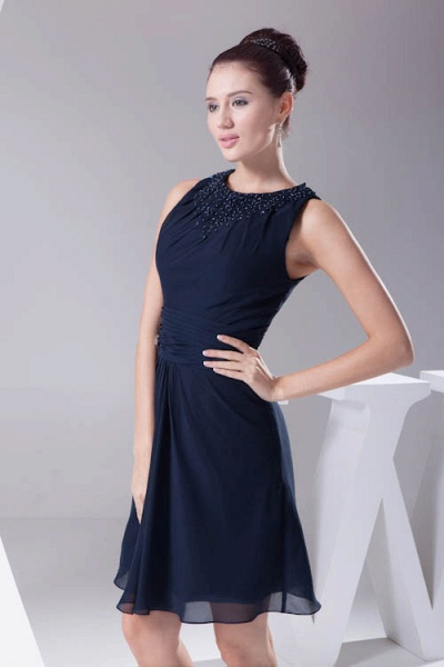 Graceful Jewel Chiffon A-line Bridesmaid Dress_6