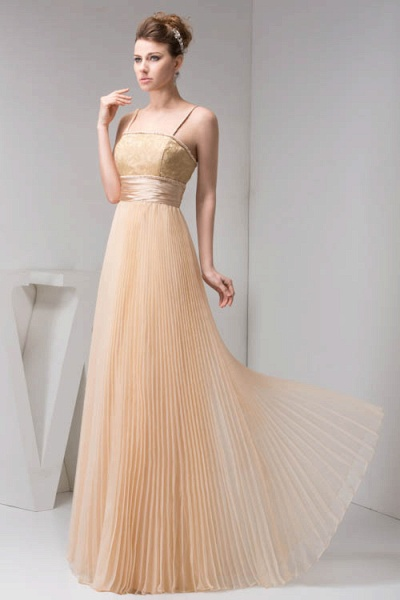 Graceful Spaghetti Straps Chiffon Princess Evening Dress_5