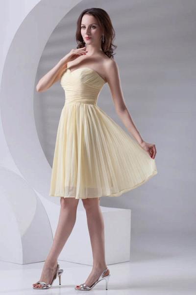 Fascinating Sweetheart Chiffon A-line Bridesmaid Dress_6