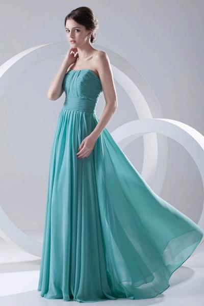 Amazing Strapless Chiffon A-line Bridesmaid Dress_5