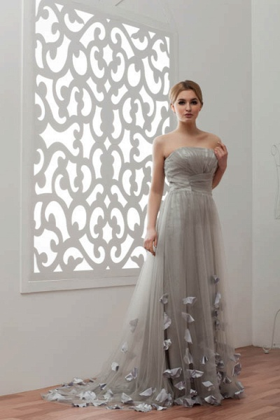 Strapless A-line Bridesmaid Dress_9