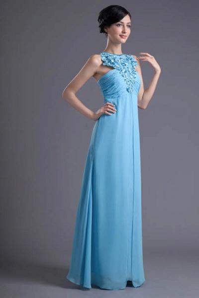 Fascinating Jewel Chiffon A-line Bridesmaid Dress_7