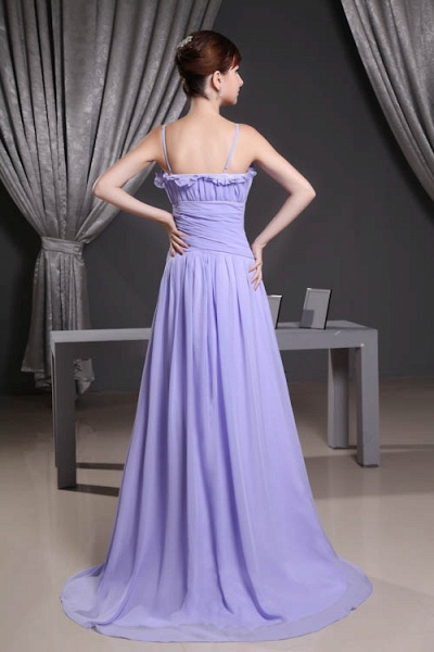 A Type Spaghetti Straps Chiffon Bridesmaid Dress with Fold_3