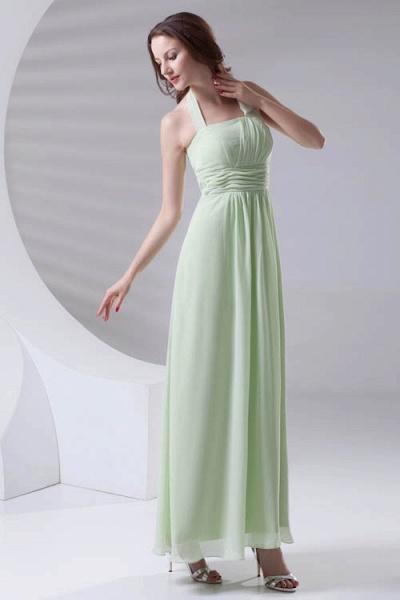 Fascinating Straps Chiffon A-line Bridesmaid Dress_4