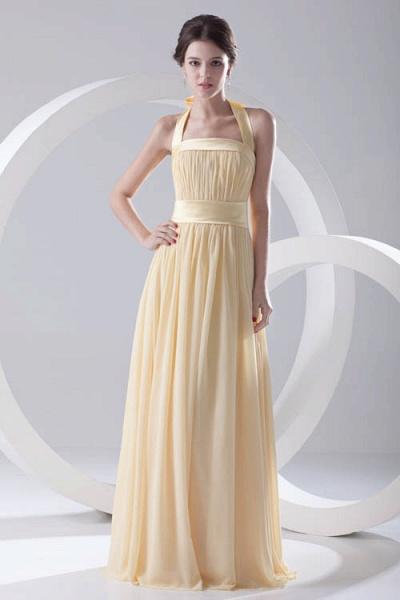 Fascinating Halter Chiffon A-line Bridesmaid Dress_1