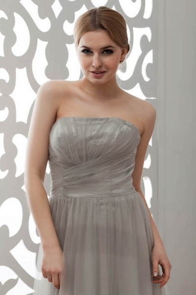 Strapless A-line Bridesmaid Dress_7