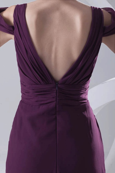 Glorious V-neck Stretch Satin A-line Bridesmaid Dress_3