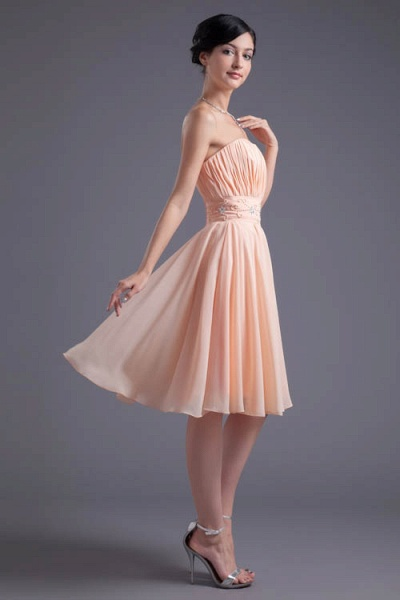 Awesome Strapless Chiffon A-line Bridesmaid Dress_4