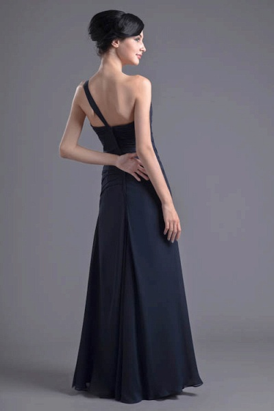 KYLEIGH | A Type One-shoulder Chiffon Bridesmaid Dress with Fold_8