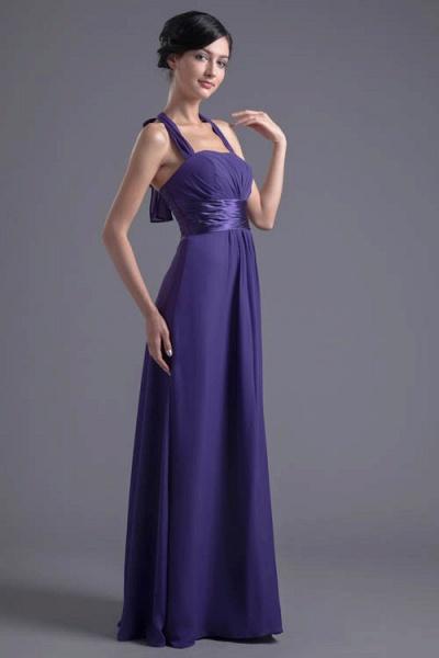 Sleek Halter Chiffon A-line Bridesmaid Dress_9