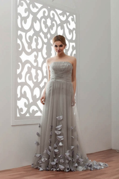 Strapless A-line Bridesmaid Dress_2