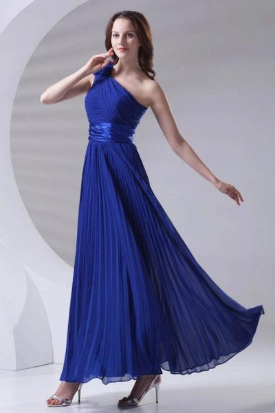 LILIANA | A-line One Shoulder Floor Length Chiffon Bridesmaid Dresses_6