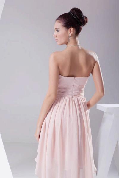 Amazing Strapless Chiffon A-line Bridesmaid Dress_6