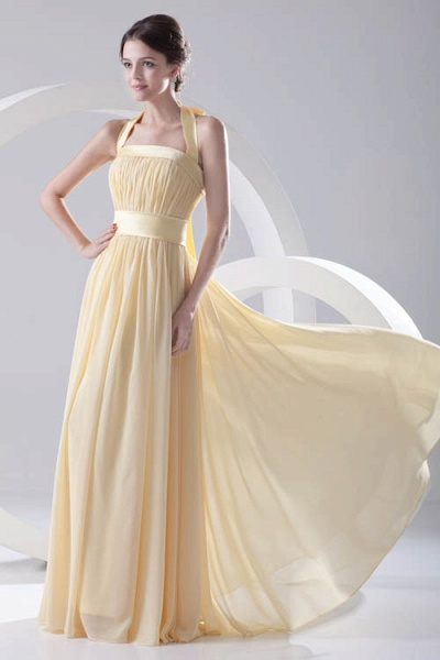 Fascinating Halter Chiffon A-line Bridesmaid Dress_8