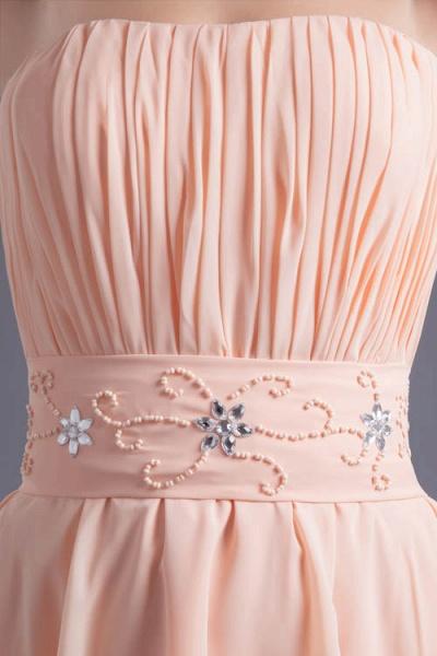 Awesome Strapless Chiffon A-line Bridesmaid Dress_8