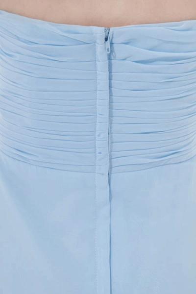 Sleek Strapless Chiffon A-line Bridesmaid Dress_7