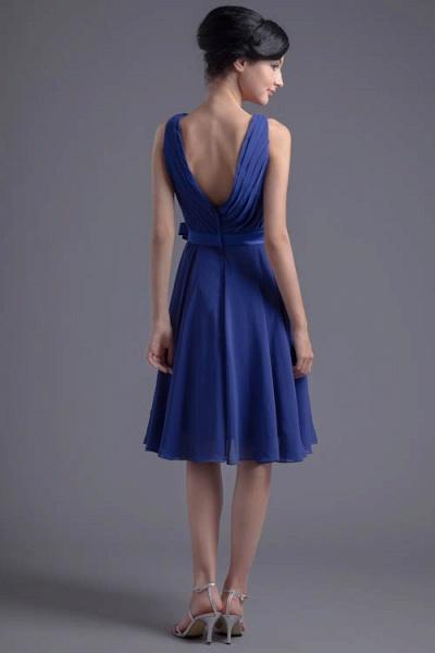 Excellent V-neck Chiffon A-line Bridesmaid Dress_3