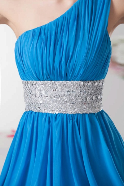 Amazing One Shoulder Chiffon A-line Bridesmaid Dress_4