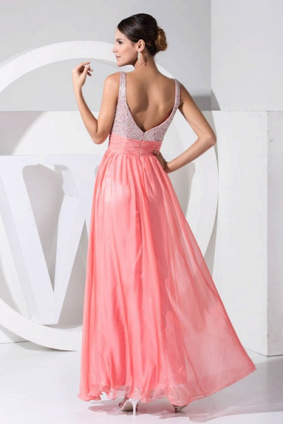 Attractive Straps Chiffon A-line Bridesmaid Dress_3