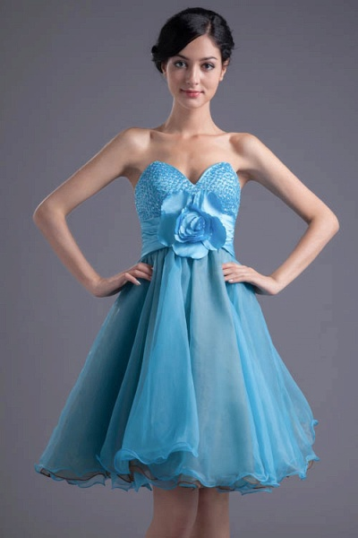 Best Strapless Chiffon A-line Bridesmaid Dress_8
