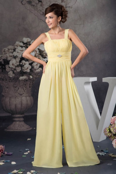 Eye-catching Straps Chiffon A-line Bridesmaid Dress_4