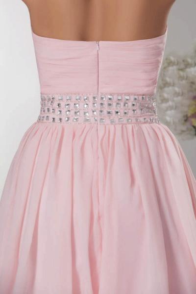 KRISTINA | A Type Heart Collar Chiffon Bridesmaid Dress with Rhinestone_9