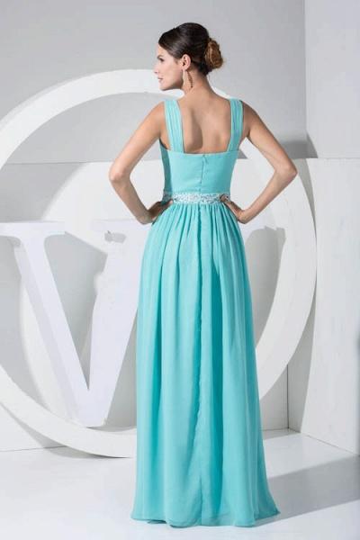 Latest Straps Chiffon A-line Bridesmaid Dress_3