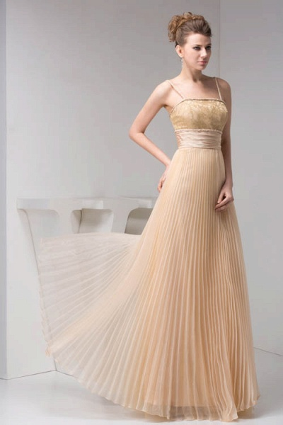 Graceful Spaghetti Straps Chiffon Princess Evening Dress_6