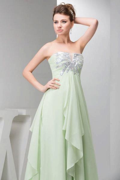 Marvelous Strapless Chiffon Princess Evening Dress_6