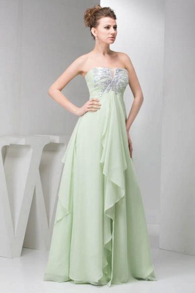 Marvelous Strapless Chiffon Princess Evening Dress_3