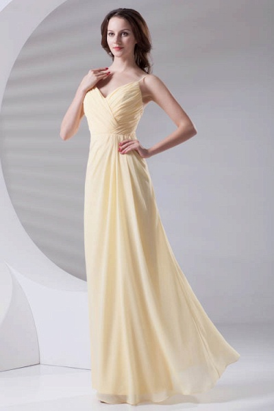 LILIANNA | A-line Spaghetti-Straps Floor Length Chiffon Bridesmaid Dresses_5