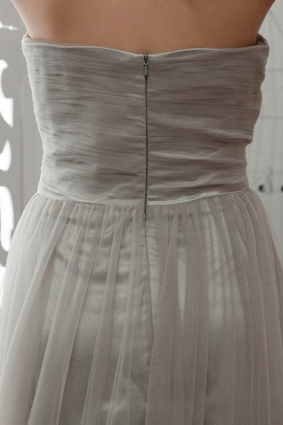 Strapless A-line Bridesmaid Dress_10