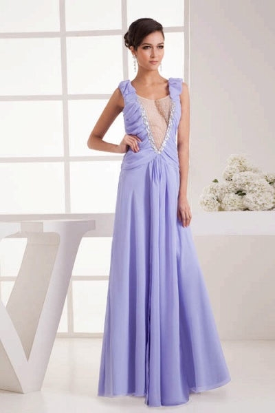 Fascinating Jewel Chiffon A-line Bridesmaid Dress_4