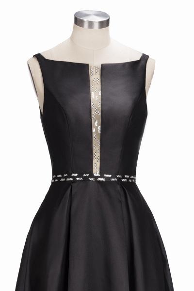 OLIVIA | A-line Floor Length Sleeveless Black Printed Flowers Prom Dresses_5