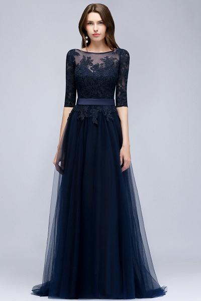 Sleek Jewel Tulle A-line Evening Dress_4