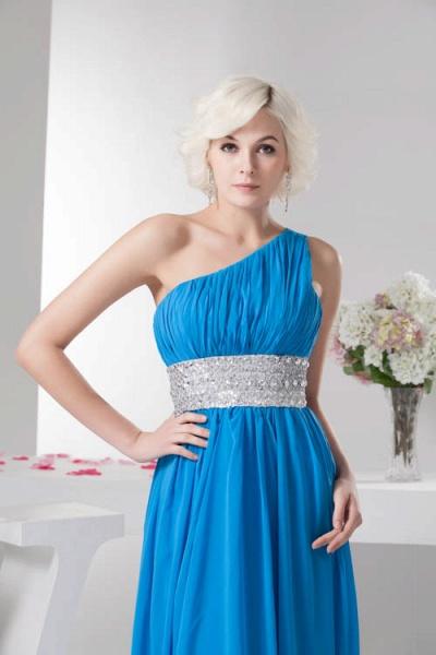 Amazing One Shoulder Chiffon A-line Bridesmaid Dress_6