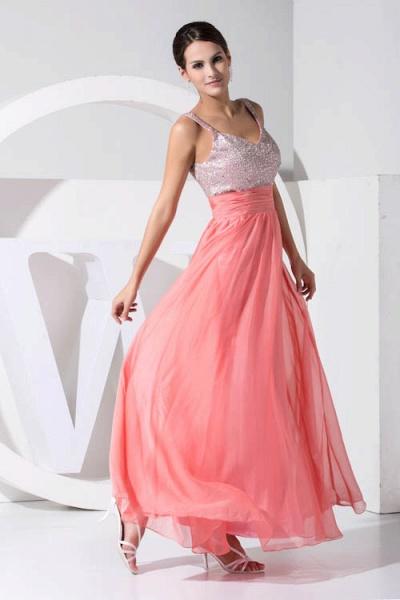 Attractive Straps Chiffon A-line Bridesmaid Dress_5
