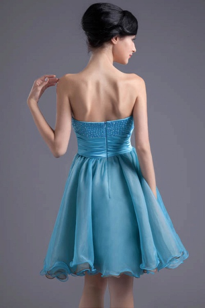 Best Strapless Chiffon A-line Bridesmaid Dress_6