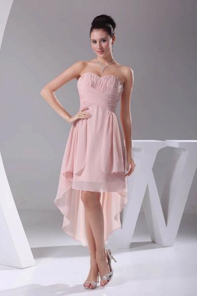 Amazing Strapless Chiffon A-line Bridesmaid Dress_1