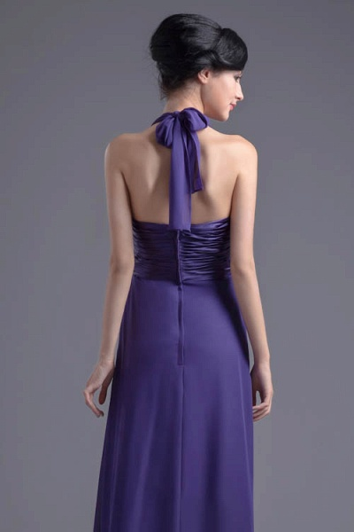 Sleek Halter Chiffon A-line Bridesmaid Dress_8