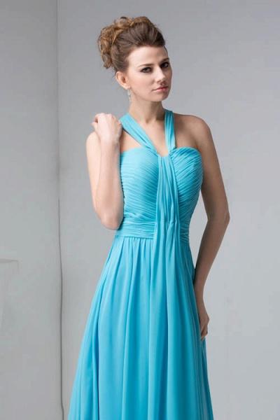 Excellent Halter Chiffon Princess Evening Dress_6