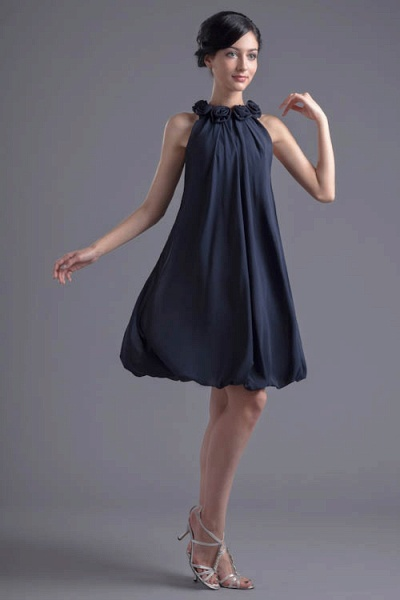 Affordable Jewel Chiffon A-line Bridesmaid Dress_1