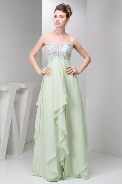 Marvelous Strapless Chiffon Princess Evening Dress_1
