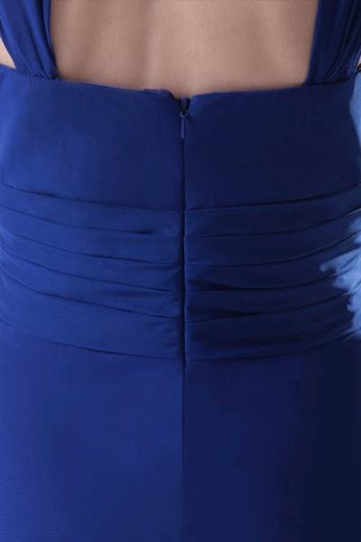 LEIGHTON | A Type A Collar Long SleevelessChiffon Royal Blue Bridesmaid Dress with Small folds_9