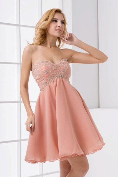 Awesome Strapless Chiffon A-line Bridesmaid Dress_1